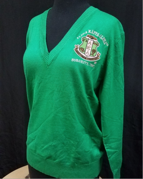 Alpha Kappa Alpha AKA Sorority Pull Over Cardigan- Green