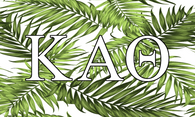 Kappa Alpha Theta Sorority Flag- Palm Leaves