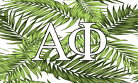 Alpha Phi Sorority Flag- Palm Leaves