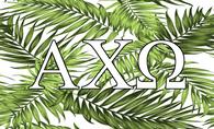 Alpha Chi Omega Sorority Flag- Palm Leaves