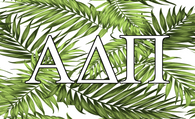 Alpha Delta Pi ADPI Sorority Flag- Palm Leaves