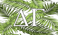 Delta Gamma Sorority Flag- Palm Leaves