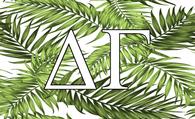 Delta Gamma Sorority Flag- Palm Leaves