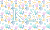 Kappa Delta Sorority Flag- Seashells