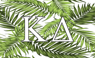 Kappa Delta Sorority Flag- Palm Leaves