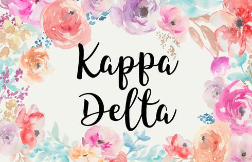 Kappa Delta Sorority Flag- Floral- Style 1