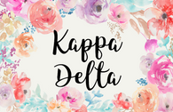 Kappa Delta Sorority Flag- Floral- Style 1