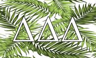 Delta Delta Delta Tri-Delta Sorority Flag- Palm Leaves