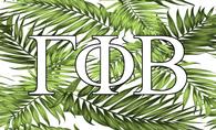 Gamma Phi Beta Sorority Flag- Palm Leaves