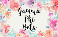 Gamma Phi Beta Sorority Flag- Floral-Style 2