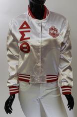 Delta Sigma Theta Sorority Satin Jacket- White