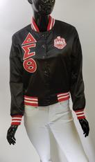 Delta Sigma Theta Sorority Satin Jacket- Black