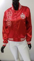 Delta Sigma Theta Sorority Satin Jacket- Red