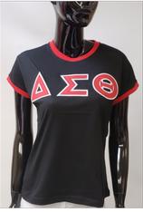 Delta Sigma Theta Sorority Ringer T-shirt-Black