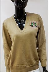 Alpha Kappa Alpha AKA Sorority Pull Over Cardigan- Khaki