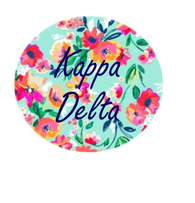 Kappa Delta Sorority- Floral Button-Small