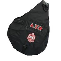 Delta Sigma Theta Sorority Sling Shoulder Bag-Black