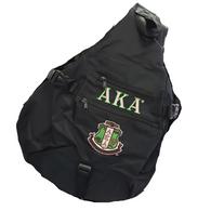 Alpha Kappa Alpha AKA Sorority Sling Shoulder Bag-Black