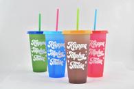 Kappa Alpha Theta Sorority Set of 4 Color Changing Cups