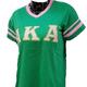 Alpha Kappa Alpha AKA Sorority V-Neck with Stripes- Green