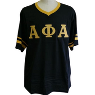 Alpha Phi Alpha Fraternity V-Neck with Stripes- Black