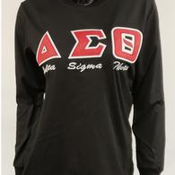 Delta Sigma Theta Sorority Long Sleeve Shirt- Black