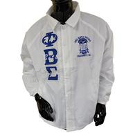 Phi Beta Sigma Fraternity Line Jacket- White