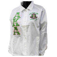 Alpha Kappa Alpha AKA Sorority Line Jacket- White