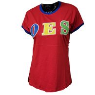 Order of the Eastern Star OES Ringer T-shirt-Red