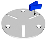 Lavina Quick Change Plate for Scanmaskin Machines