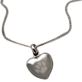 "Keep the memories close with a beautiful rhodium heart shaped pendant that holds a small portion of cremated remains. Includes an 18"" high quality chain."