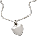 "Keep the memories close with a beautiful sterling heart shaped pendant that holds a small portion of cremated remains.  Includes an 18"" high quality chain."