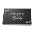 "Create a lasting memory of your beloved pet with a personalized Jet Black Granite Pet Marker.  Dimensions - 6"" x 10"" x 1.5"""