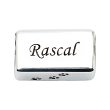 A beautiful sterling silver rectangle charm that can be engraved to honor your beloved pet in a unique way. Fits any 2.8 mm bracelet, including the PR109B NozyPaws Bracelet.  Does not hold cremated remains.
