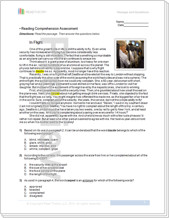 Printables Read Theory Worksheets read theory worksheets templates and pheapp