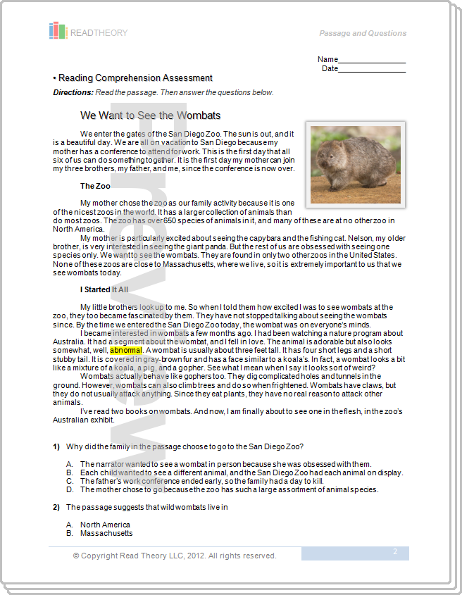 Printables Read Theory Worksheets printables read theory worksheets safarmediapps pictures kaessey collection photos kaessey