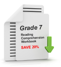 Grade 7 Reading Comprehension Workbook - All 25 lessons