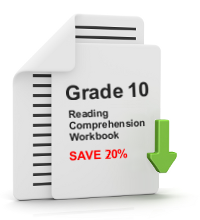Grade 10 Reading Comprehension Workbook - All 25 lessons