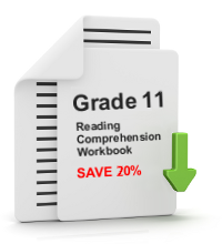 Grade 11 Reading Comprehension Workbook - All 25 lessons