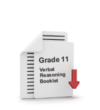 Grade 11 Verbal Reasoning Booklet