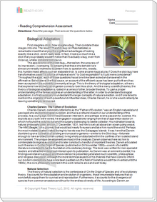 """Biological Adaptation"" - 11G / 1360L"