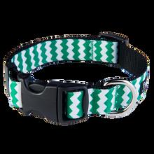 Chevron Green/Black Collar