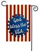 """God Bless Decorative Summer Garden Flag - 12"""" x 17.5"""" - Second East"""