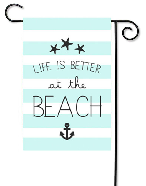 "Life is Better at the Beach Decorative Summer Garden Flag - 12"" x 17.5"" - Second East"