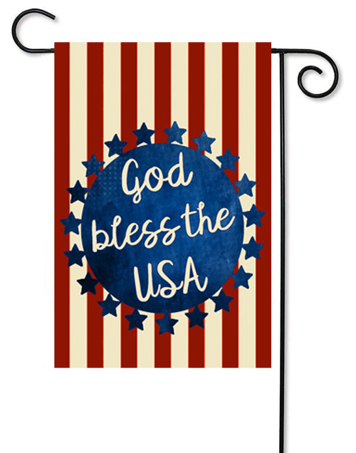 "God Bless Decorative Summer Garden Flag - 12"" x 17.5"" - Second East"