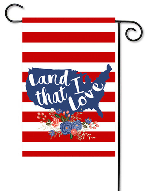 "Land that I Love Decorative Summer Garden Flag - 12"" x 17.5"" - Second East"