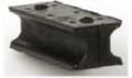 Kajak Sport Rubber Pivot with screws (pair)