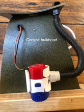 Pump kit in mock-up of bulkhead and deck