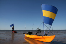 Blue/Yellow/blue/clear sail