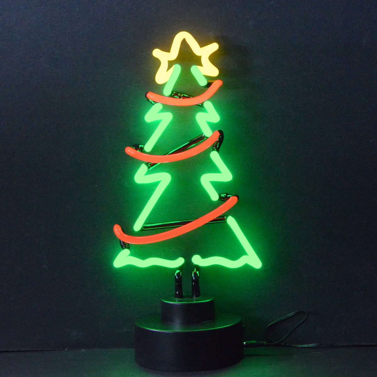 CHRISTMAS TREE WITH GARLAND NEON SCULPTURE - Neon4Less.com